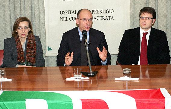 Enrico Letta a Macerata