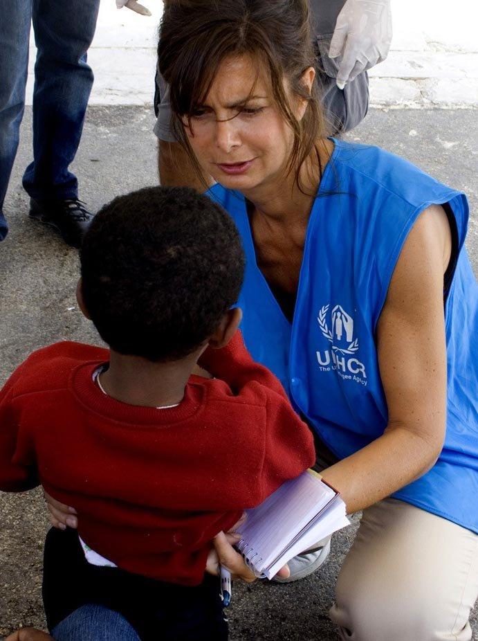Laura Boldrini in una missione dell'Onu