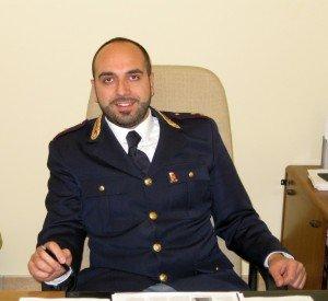 Il commissario Roberto Malvestuto, che dirige il commissariato di Civitanova