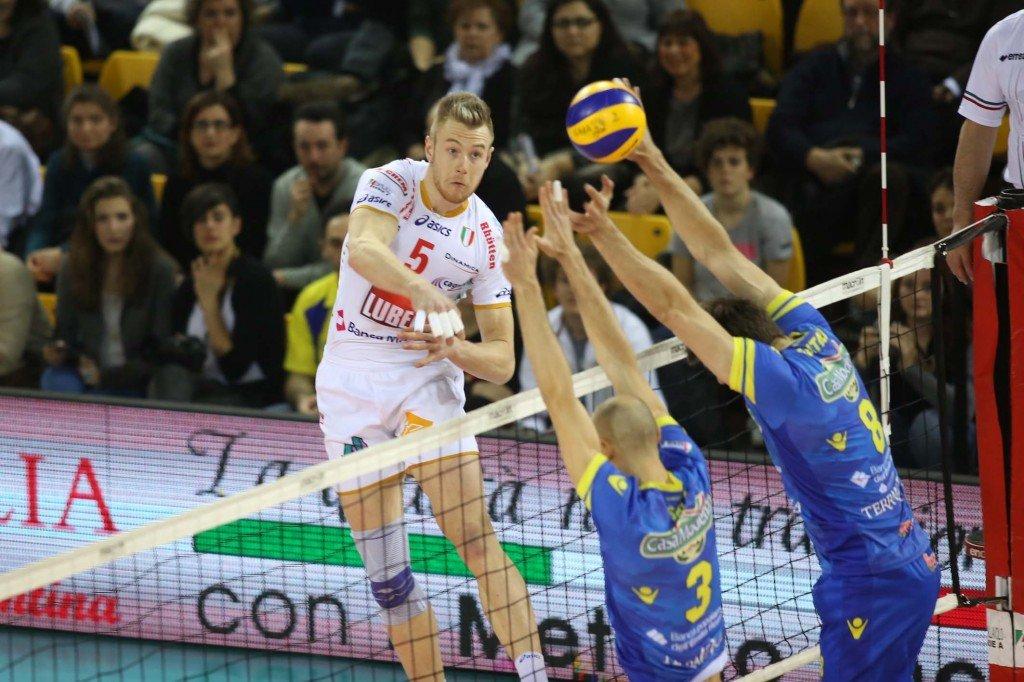L'opposto della Lube Ivan Zaytsev, in dubbio per la sfida di stasera contro Perugia