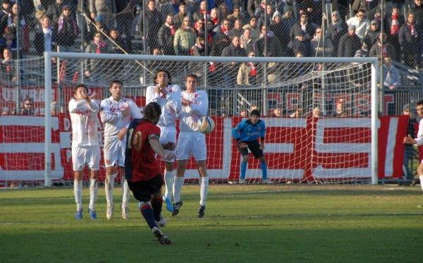 Mattia Biso in gol su rigore
