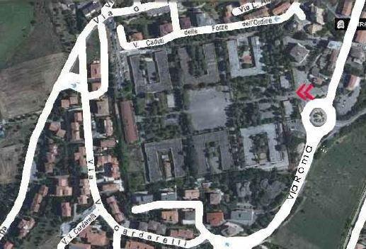 La planimetria dell'area ex Saram di proprietà della Fintecna