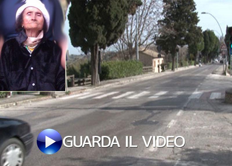 In via Pancalducci aveva perso la vita Dea Angelici (guarda il video con i commenti dei cittadini sulla pericolosità della strada)