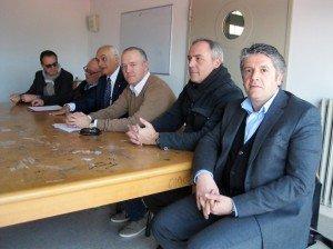 Da sinistra Erminio Marinelli, Sergio Marzetti, Massimo Mobili, Fabrizio Ciarapica, Giovanni Corallini e Claudio Morresi, federazione del centrodestra