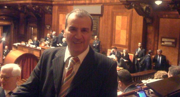 Mario Morgoni ieri a Palazzo Madama