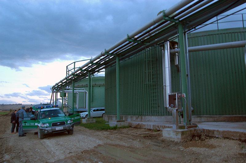 La centrale a biogas di Morrovalle