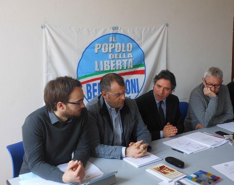 Da sinistra Marco Guzzini, Riccardo Sacchi, Fabio Pistarelli e Pierfrancesco Castiglioni