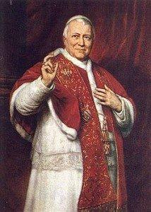 Papa Pio IX,Giovanni Maria Mastai Ferretti (Senigallia, 13 maggio 1792 – Roma, 7 febbraio 1878), terziario francescano, è stato il 255º vescovo di Roma e papa della Chiesa cattolica e 163º ed ultimo sovrano dello Stato Pontificio (1846-1870). Il suo pontificato, di 31 anni, 7 mesi e 23 giorni, rimane il più lungo della storia della Chiesa cattolica dopo quello di san Pietro. È stato proclamato beato nel 2000.