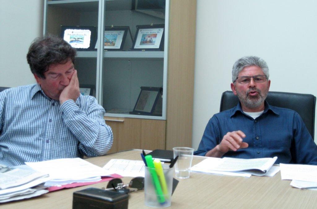 Da sinistra Flavio Rogani, presidente e Ad di Gas Marca e Sergio Cognigni Ad di Atac