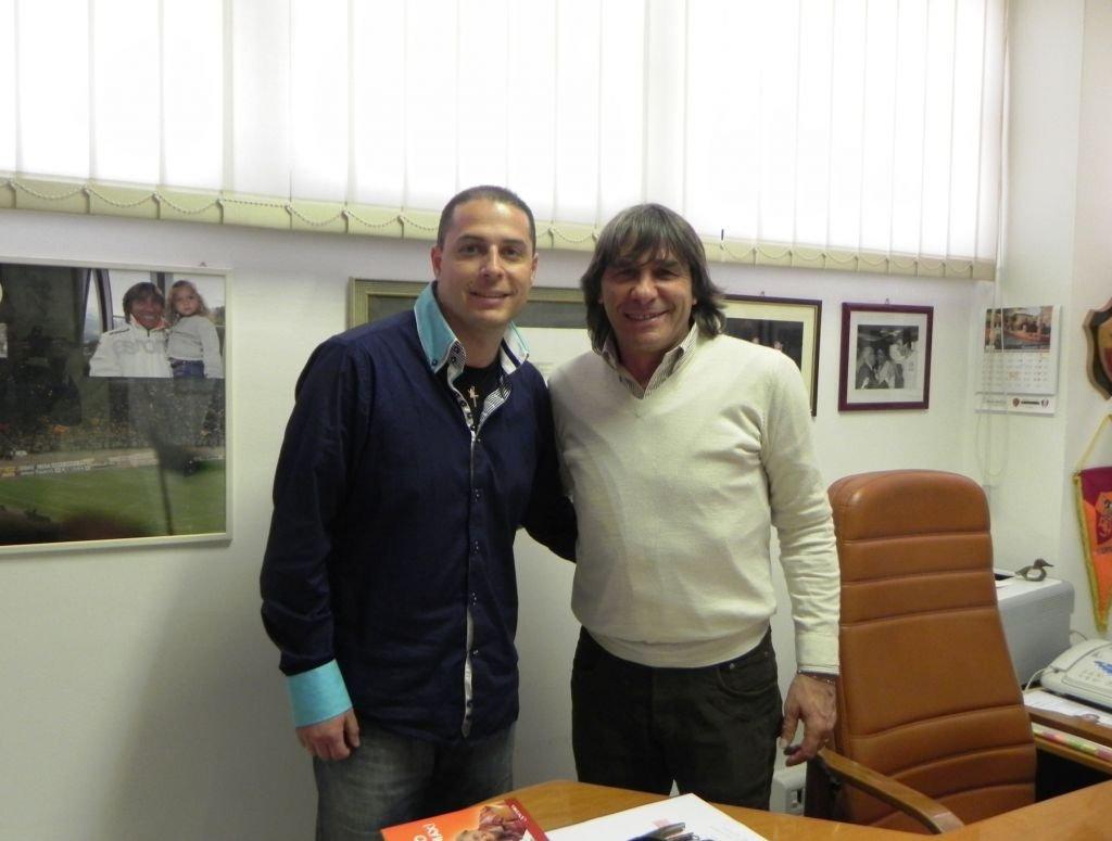 Il responsabile del settore giovanile della Vis Macerata Cicarè e Bruno Conti