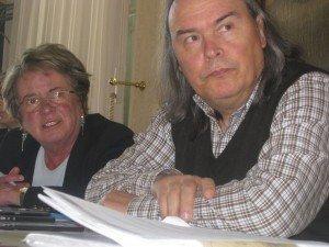 La presidente Anpi di Civitanova Anita Pantanetti e Lorenzo Marconi presidente provinciale