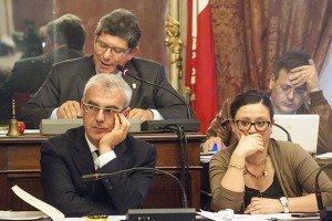 Romano Carancini, Federica Curzi e Romano Mari in Consiglio