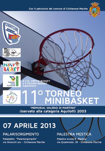 locandina torneo minibasket