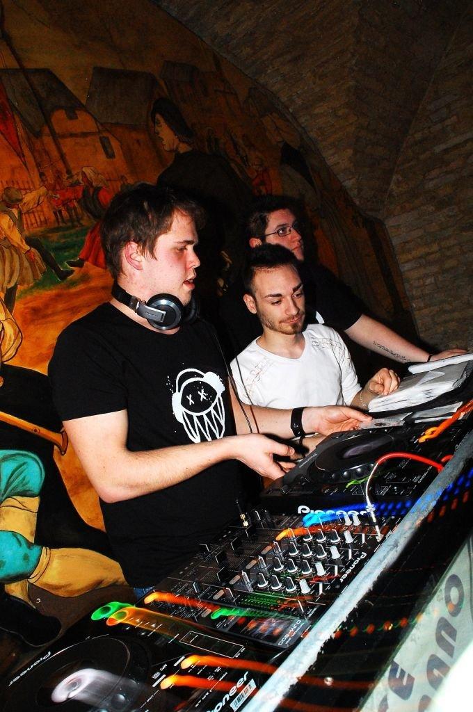 David Mari e Luca Montenovo, organizzatori della festa di venerdì sera