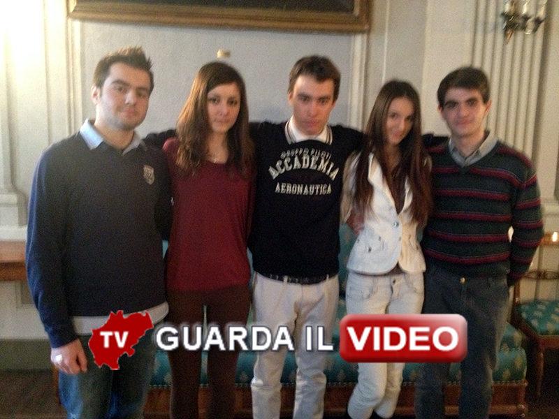 Studenti stranieri della classe IV dell'Itc Gentili (clicca sull'immagine per guardare il video)