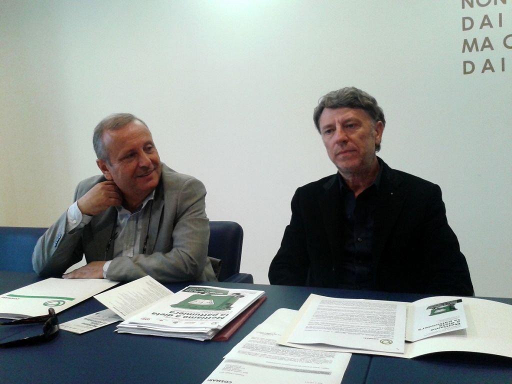 Da sinistra Giuseppe Giampaoli e Daniele Sparvoli, rispettivamente direttore e presidente del Cosmari