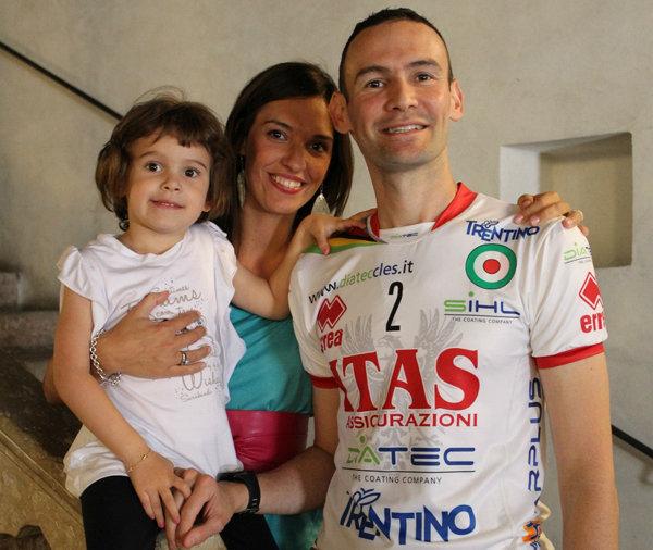 Jack Sintini con la sua famiglia