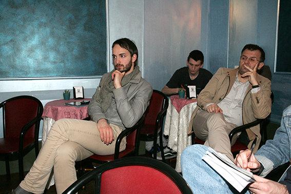 Marco Guzzini alla conferenza stampa indetta dalla Robur