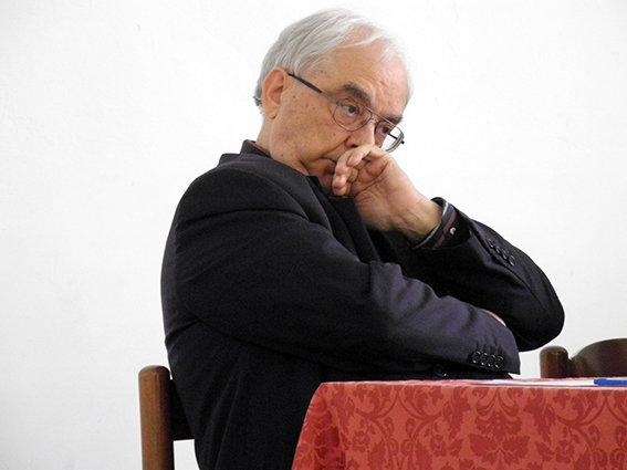 Il direttore Don Maggi durante l'incontro di oggi pomeriggio