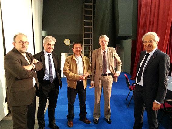 Da sinistra: il consigliere Gabriele Chiarici, il direttore generale Stefano Canella, il neo consigliere Luciano tacconi, il presidente Alberto Niccoli, il vice presidente Sandrino Bertini