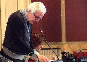 Giorgio Ballesi ieri sera in Consiglio