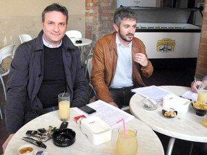L'ex assessore comunale Stefano Di Pietro e il coordinatore cittadino dei renziani Nicola Perfetti