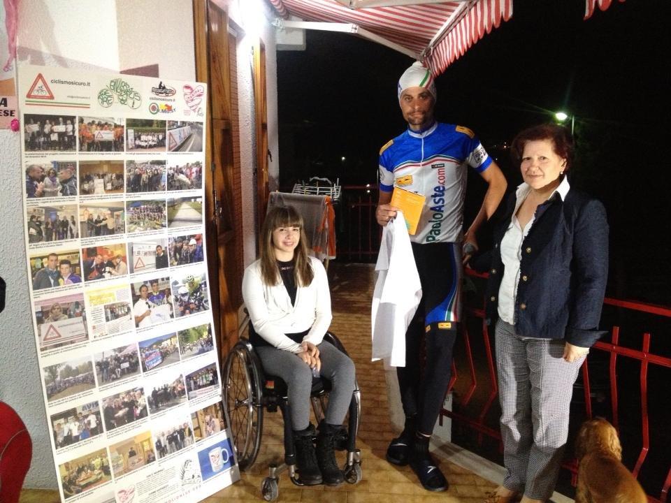 Paolo Aste in visita a Marina Romoli