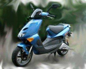 Il modello dello scooter Aprilia 50 rubato in via Bianchini
