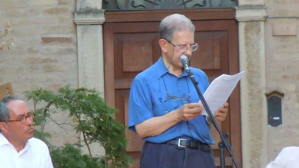 Agosto 2012: il Professor Settis all'evento di Moresco