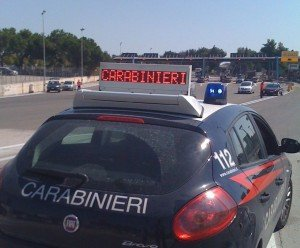 Carabinieri- autostrada
