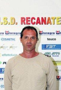 Gilberto Pierantoni, allenatore della Recanatese