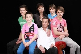 La famiglia di Connor Caswell