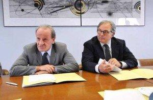 Pietro Marcolini e Gian Mario Spacca