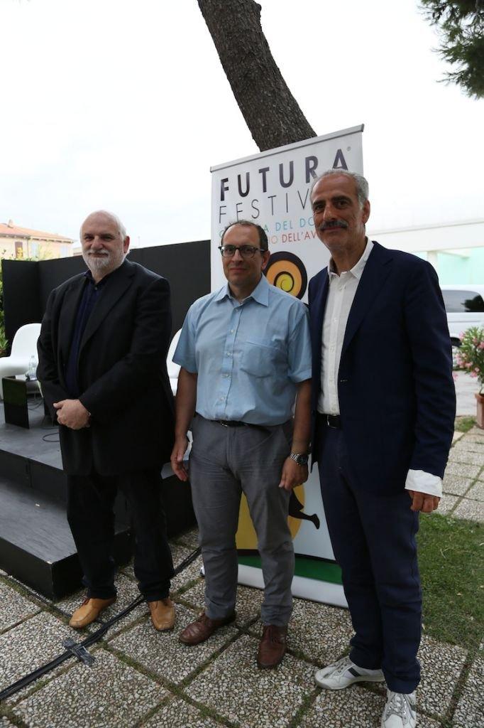 Da sinistra: Gino Troli, Tommaso Corvatta e Giulio Silenzi