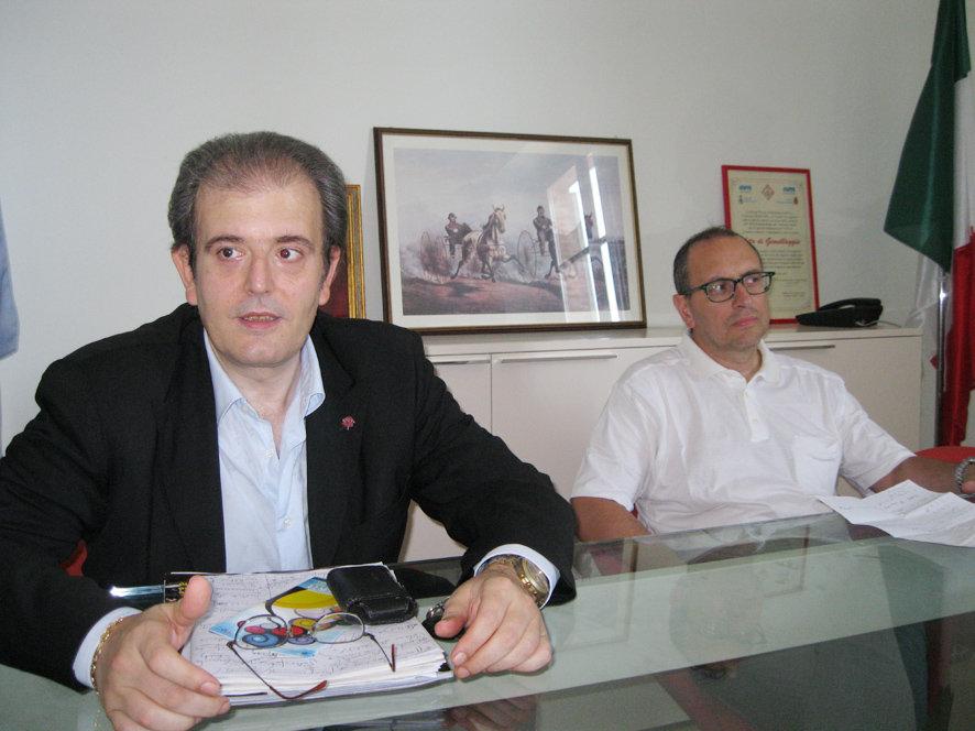 Il presidente del consiglio Ivo Costamagna ed il sindaco Tommaso Corvatta