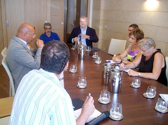 Paolo Tanoni durante la conferenza stampa di ieri.