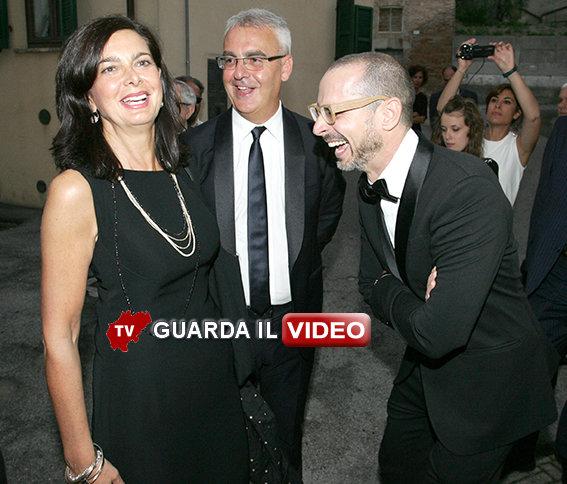 Laura Boldrini, il sindaco Carancini e il direttore artistico Micheli