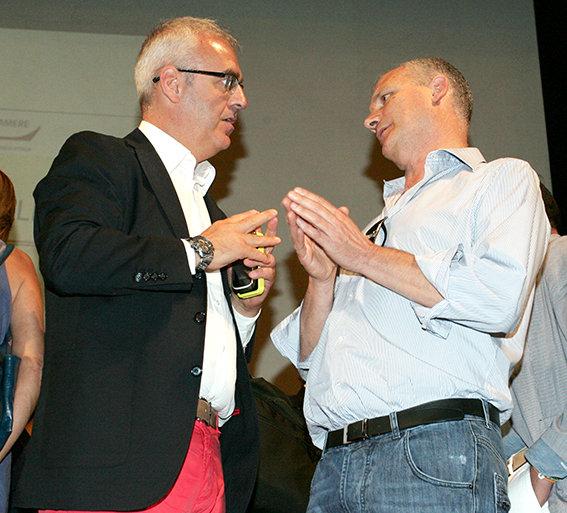 Il sindaco Romano Carancini e il patron della Lube Fabio Giulianelli