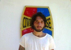 Il centrocampista della Civitanovese Matteo Coccia