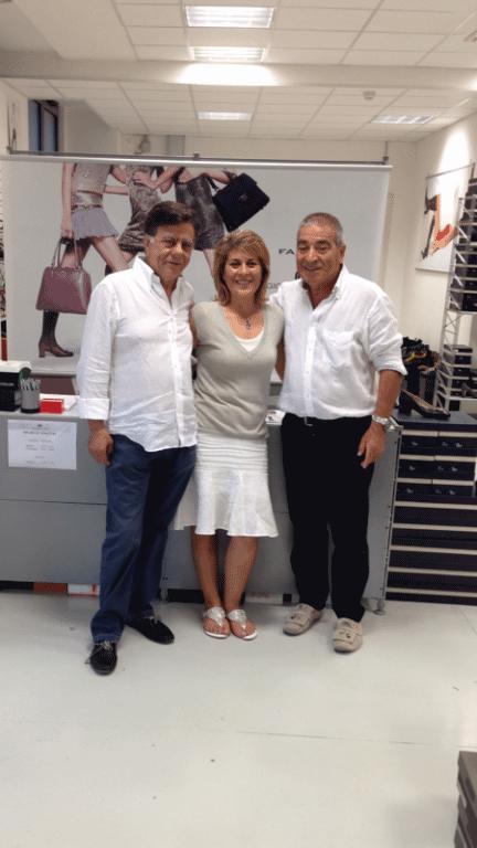 L'Ambasciatore della Palestina ha visitato con la sua signora l'outlet di Giovanni Fabiani, world sponsor dello Sferisterio