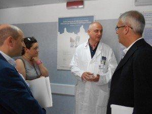 La visita della giunta ai reparti dell'ospedale di Macerata
