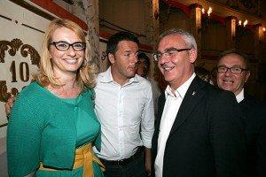 L'IDEA - Irene Manzi con Matteo Renzi e Romano Carancini