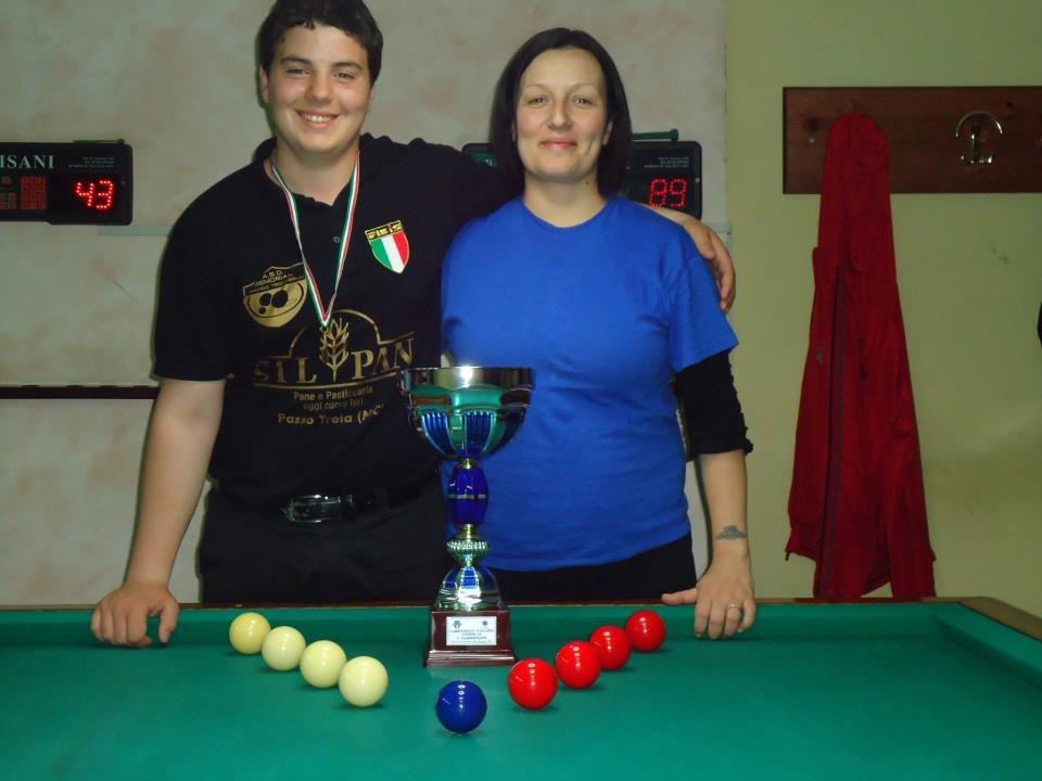 Simone Rinaldi con Letizia Trovarelli