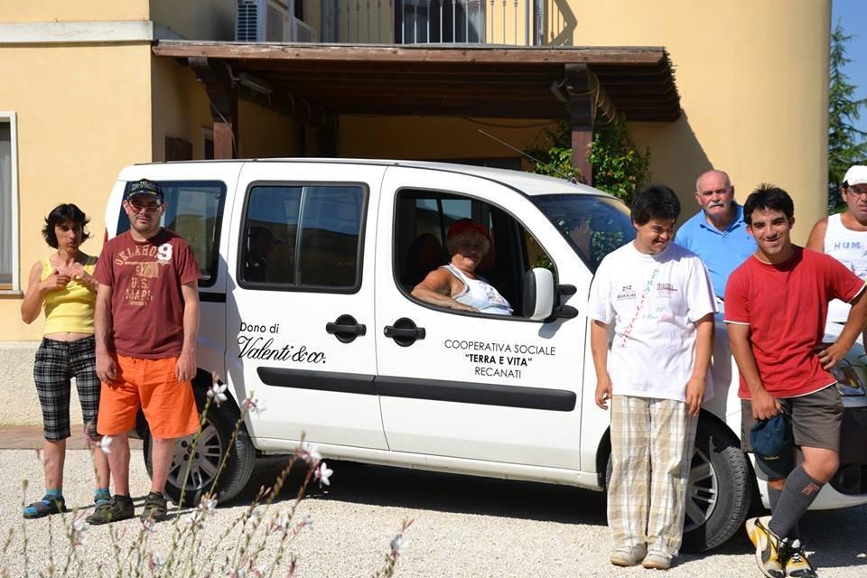Il Fiat Doblò rubato alla Cooperativa Sociale Terra e Vita di Recanati