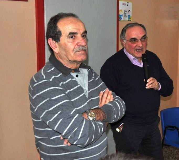 Tito Antinori con il presidente CP Macerata Roberto Cambriani