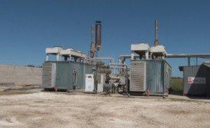 Una centrale a biogas