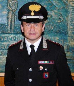 Il Capitano Vincenzo Orlando, comandante della Compagnia di Camerino