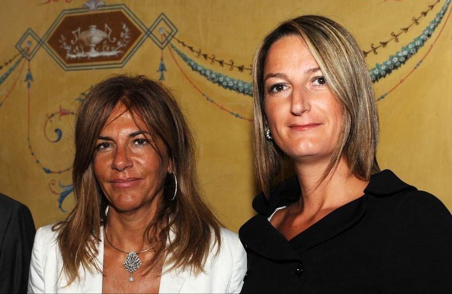L'ex presidente di Confindustria Emma Marcegaglia con Ilenia Santoni