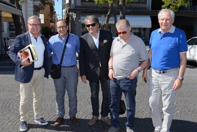 L'incontro del luglio scorso tra Tommaso Corvatta, sindaco di Civitanova, e i vertici della dirigenza Lube