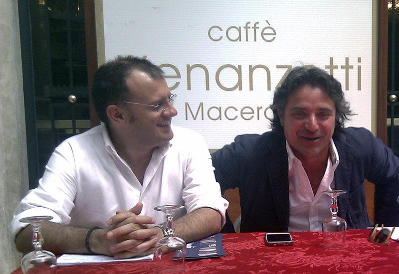 Riccardo Sacchi e Fabio Pistarelli durante la conferenza stampa di giovedì sul bilancio.